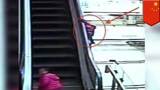 Маленькая девочка погибла на эскалаторе в Китае