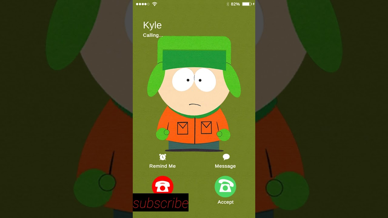 kyle broflovski calling me south park youtube