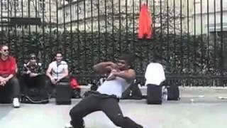 Black guy dancing in Paris France great Street Dancer