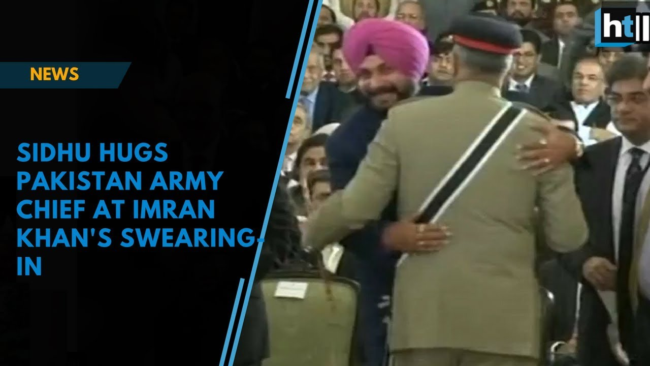 Image result for sidhu hugs pak army chief