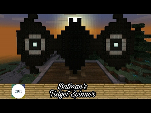 Minecraft Tutorial(Objects):How to make Batmans Fidget Spinner