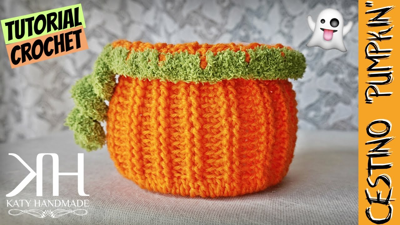 "Tutorial uncinetto cestino ""Pumpkin"" Crochet basket"