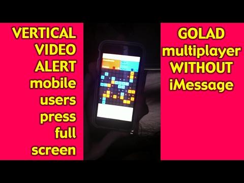 no-text-message GOLAD multiplayer workaround