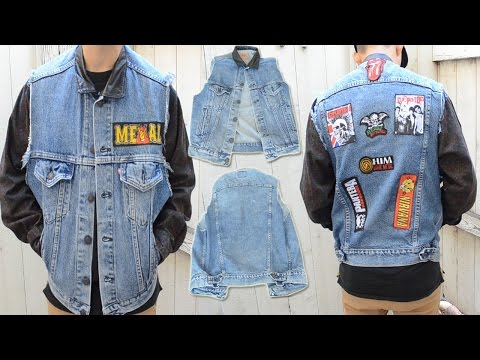 DIY: How to Add Patches to a Denim Vest (NO SEW) | KAD Transformation #11