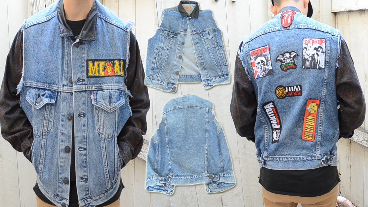 Diy: How To Add Patches To A Denim Vest (no Sew)  Kad Transformation #11   Youtube