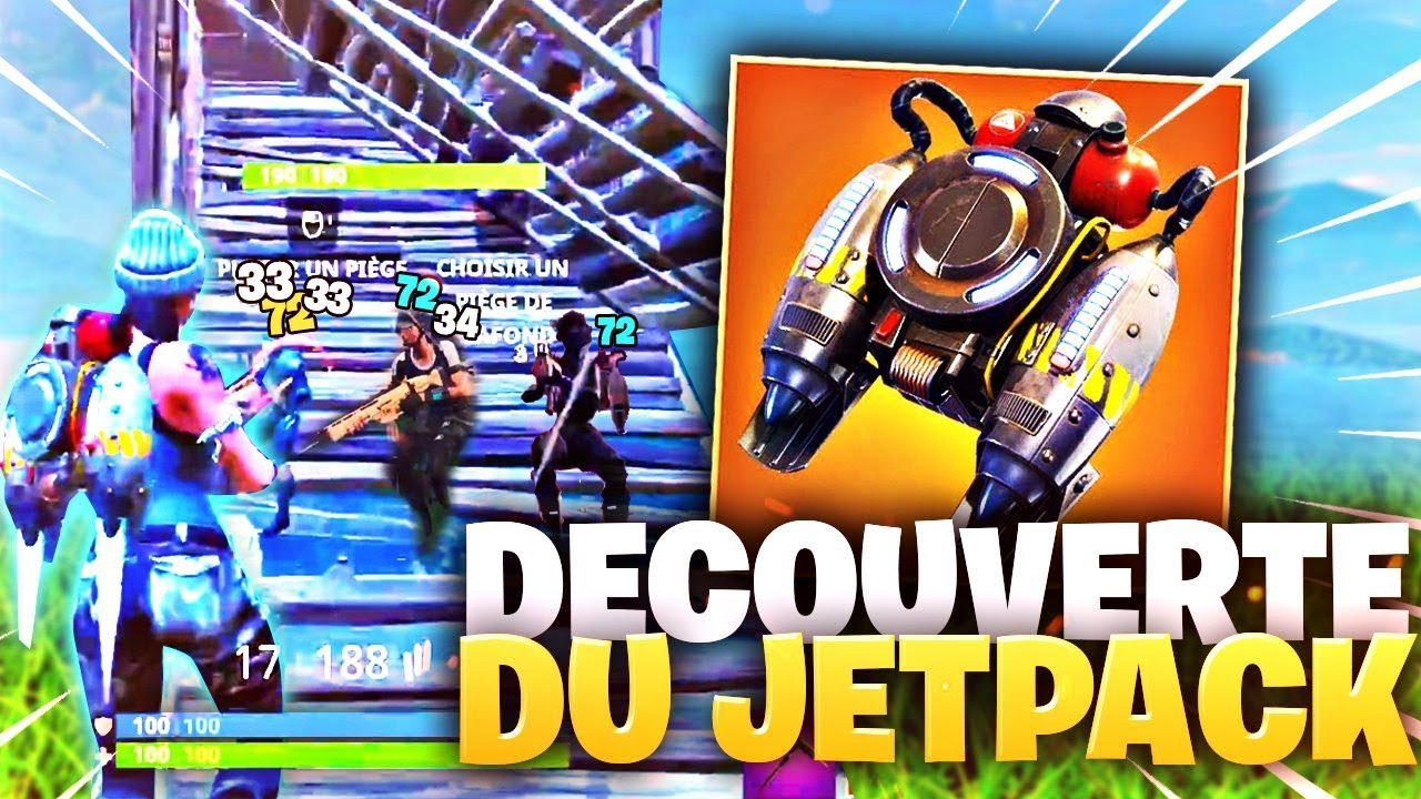 🔥DECOUVERTE DU JETPACK ENFIN! ► FULL LEGENDAIRE! FORTNITE Battle Royale