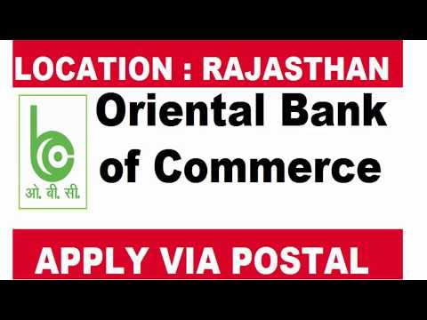 Oriental Bank of Commerce Recruitment for ADVOCATES Job Posts Rajasthan