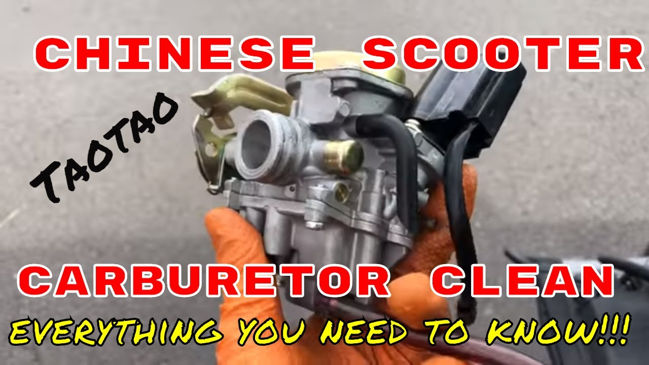 Taotao Carburetor clean: Everything you need to know(sealed float ...