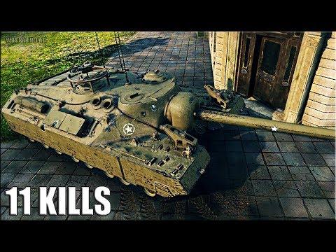 Т95 тащит КРАСАВА 11 фрагов 🌟🌟🌟 World of Tanks T95 лучший бой пт-сау 9 уровень