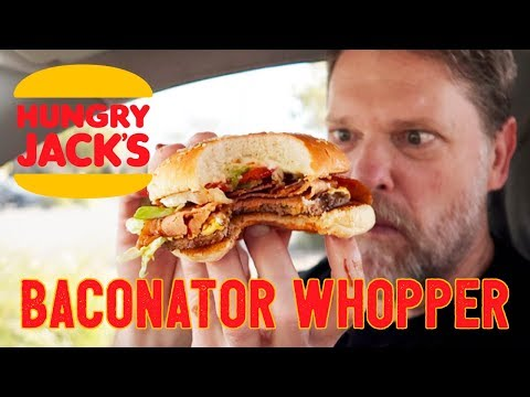 NEW WHOPPER BACONATOR from HUNGRY JACKS FOOD REVIEW – Greg's Kitchen