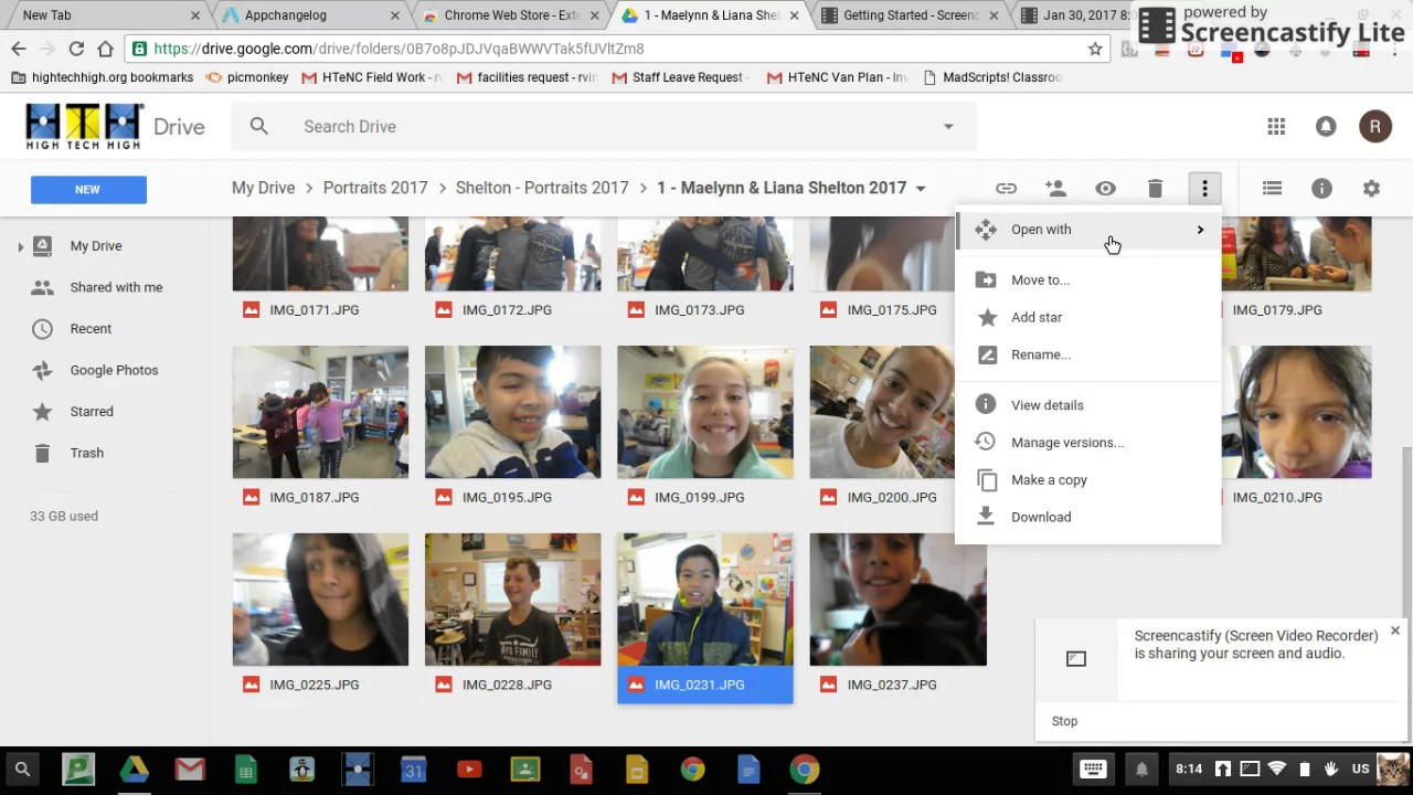 How to open a photo in google drive and open in picmonkey