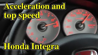 Honda Integra Type R acceleration and top speed.