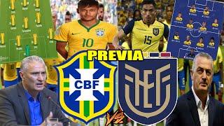 (CONFIRMADO) SORPRESIVA ALINEACIÓN DE ECUADOR PARA ENFRENTAR A BRASIL! PREVIA BRASIL VS ECUADOR