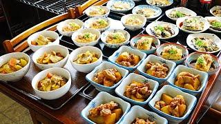 """【昭和8年創業】たくさんのおかず 親子丼の作り方「井筒食堂」Japanese traditional restaurant """"IZUTSU"""" in Osaka June 17th, 2021"""