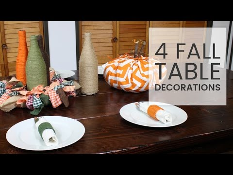 4 Last-Minute Fall Table Decorations