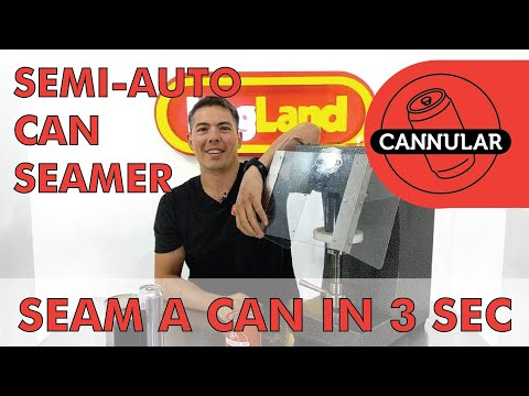Cannular Semi-Auto Craft Brew Can Seamer - It's Finally Here - Canning Just Got Easier