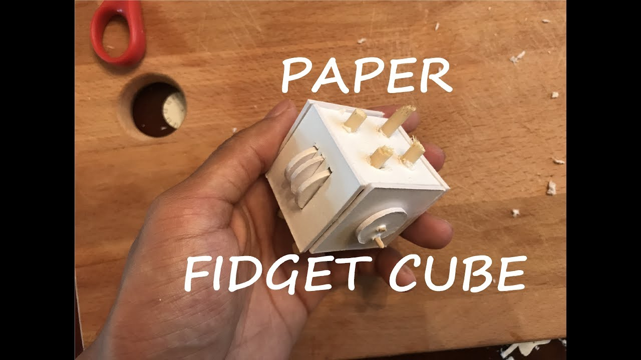 How To Make A Paper Fidget Cube Youtube