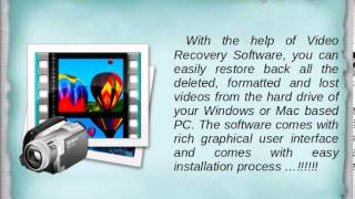 Video Recovery Software to Recover Deleted Videos Easily