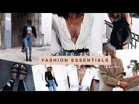 back to school fashion essentials | how to always look put together