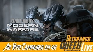 Call of Dutty Modern Warfare Campanha 4k Parte 1 (Pré analise Técnica Ao Vivo)