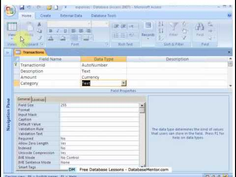 Sample Access Database - Free Tutorials - Expenses Example ...