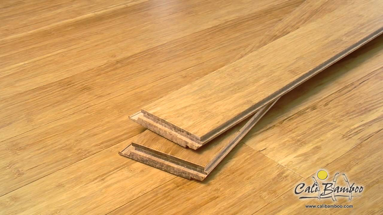 Cali Bamboo Natural Fossilized Click Lock Solid Flooring