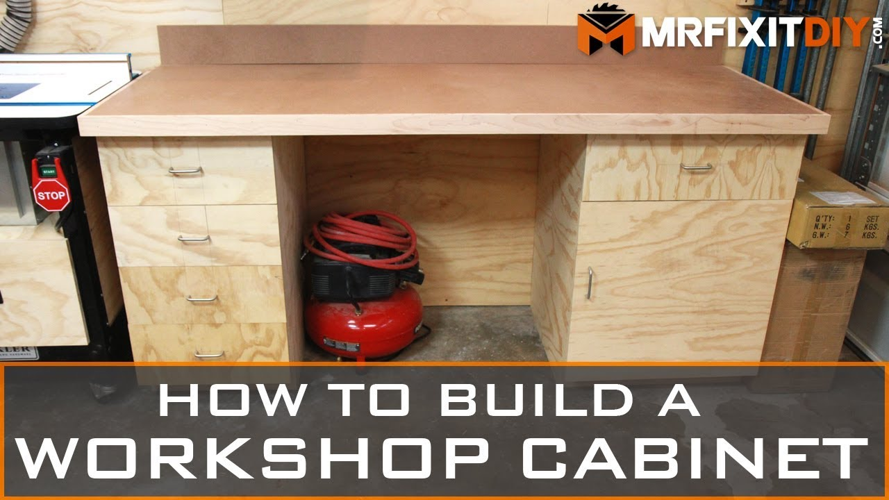 How To Build A Workshop Cabinet (FREE DOWNLOADABLE PLANS
