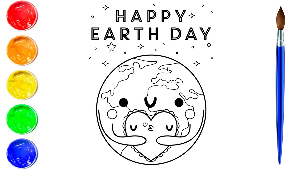 - Coloring Happy Earth Day Coloring Pages Art And Coloring Fun