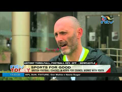 UK football coaches are in Kenya for British Council projects with youths