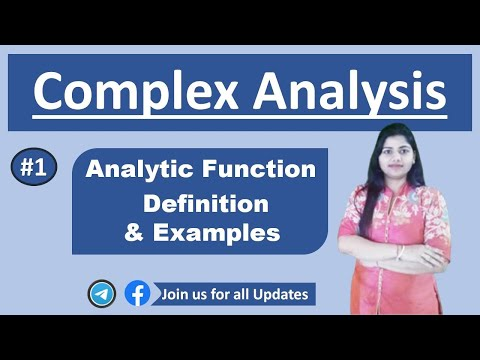 analytic function with 3 examples in complex variable function