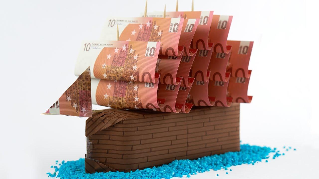 geldgeschenk idee hochzeit ein schiff aus geld basteln youtube. Black Bedroom Furniture Sets. Home Design Ideas