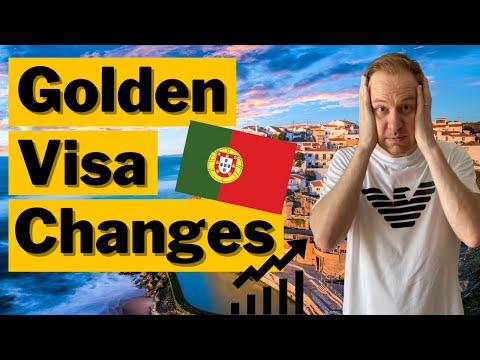 CHANGES to Portugal Golden Visa Program (Bad News)