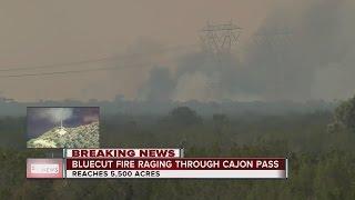 Bluecut Fire keeps growing in Southern California