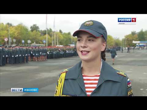 Среди новых курсантов Ивановской академии МЧС 12 девушек