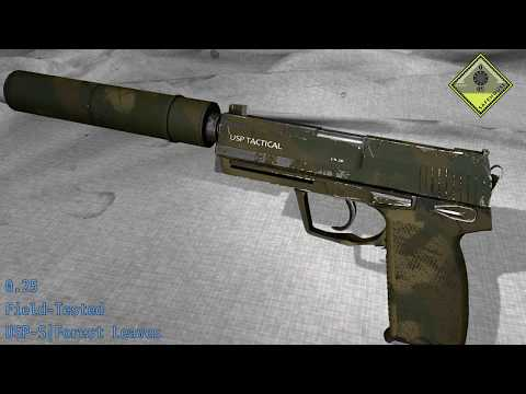 USP - S   Forest Leaves - Wear and Float