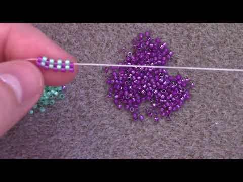 Learn the Odd Count Peyote Stitch - A Beginner Beading Tutorial by Aura Crystals