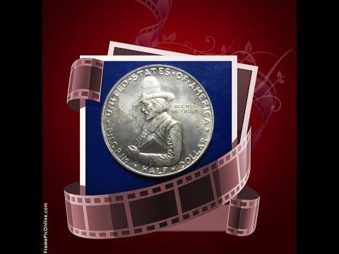 Coin Half Dollar 1620 - 1920 Pilgrim Tercentenary Celebration  Silver Coins US  Commemorative