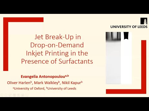 Jet Break-Up in Drop-on-Demand Inkjet Printing - Evangelia Antonopoulou