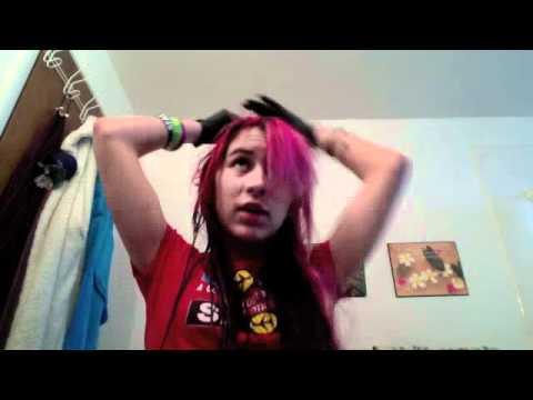 Dying Hair Pillarbox Red-Manic Panic