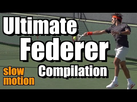 Roger Federer Ultimate Slow Motion Compilation - Forehand - Backhand - Serve - Volley - Overhead