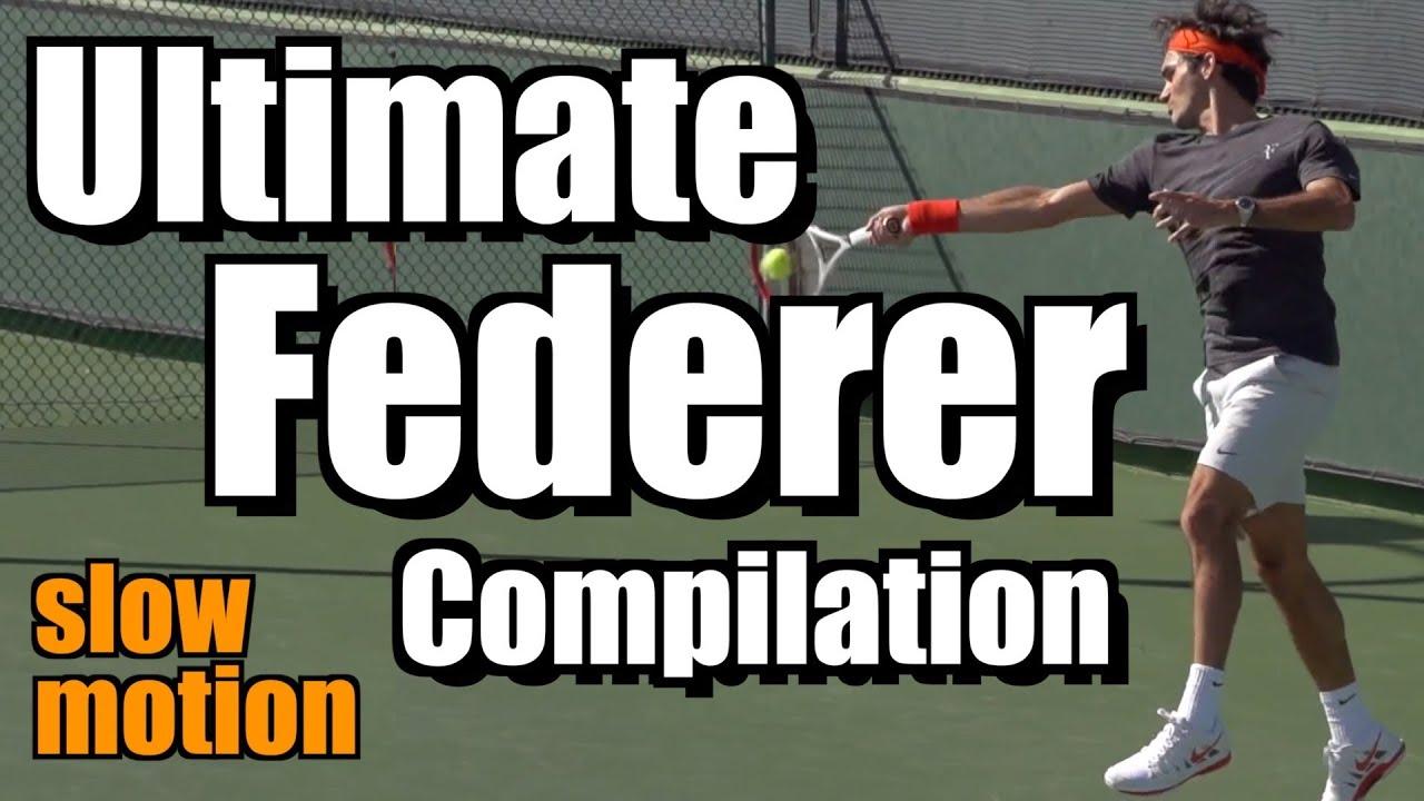 Roger Federer Ultimate Slow Motion Compilation - Forehand - Backhand - Serve - Volley - Overhead