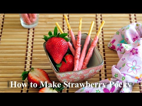 How To Make Strawberry Pocky 草莓百力滋--製作及食譜