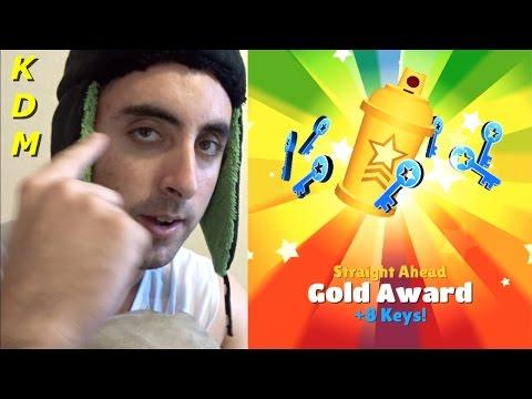 Straight Ahead Gold Award on Subway Surfers!