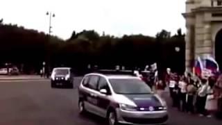 ПУТИН Австрия как Встретили Кортеж Путина в Вене 11 08 2015