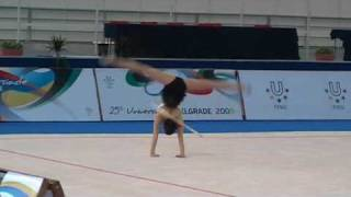 Universiade Belgrade 2009 Rhythmic Gymnastics 1 08 DING Yidan CHN Hoop