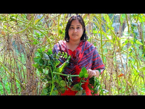 Vegetable Cooking Recipe: (Malabar Spinach) Basella Fried Recipe in Village| Village Food Factory