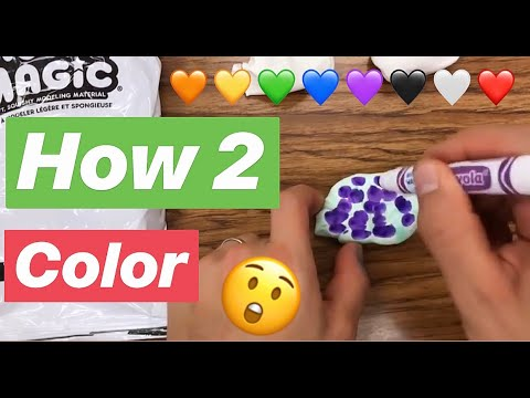 Part 2️⃣ How to use and COLOR 🎨 Model Magic Easy step by ...