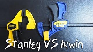 Обзор сравнение струбцин Irwin VS Stanley