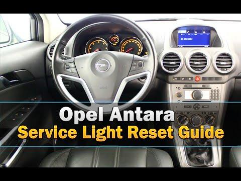 Opel Antara Service Light Reset Youtube