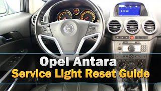 Opel Antara Service Light Reset